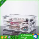 Wholesale Cheap Clear Acrylic Cosmetic Makeup Organizer Storage Box With 3 Drawers                                                                                         Most Popular