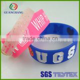 Custom promotional and decorative silicone wristband with printed logo