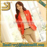 New 2015 Arrival Korea Style Blazers Clothes coat for Women Candy Color for Ladies Top jacket