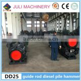 China New condition 250KN DD25 guide rod type diesel pile hammer for Vietnam, Indonesia & Philippines