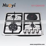 Built in multiple cooktops/86cm 5 burner gas cooker hob with big hotplate