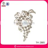 2014 hair accessories Shinning Korea Fashion Rhinestone pearl brooches Diamond Brooch Bouquet For Wedding