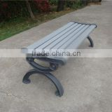 Weather resistant cast aluminium bench with plastic wood slat bench seating