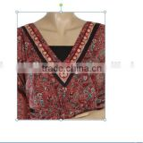 RTWD-008 V shape neck ladies kuties / indian design different color girls kurtis / Office wear dresses.