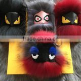 Beautiful Monster raccoon Fur Chain Key,Fashion Fur Keychain for Bag, Car keychain and Keyring