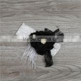 the latest baby girls hair headband with bowknot headband boutique black satin baby girls elastic headband