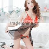 2035 Sexy Lingerie Lace Babydoll Dress Women's Underwear Sleepwear Chemise +G-String