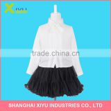 Modern Girls Long Sleeve Blouse And Fashion Children Girls Princess Skirt Pleated Gather Big Bottom