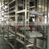 Multi-functional tray model freezing spiral conveyor machine