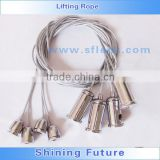 Led Panel Light Lifting Rope Wire Sling/LED lifting sling/Light suspension kits/steel wire rope for lighting