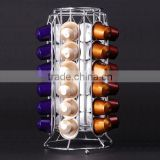 36 Capacity Chrome Wire Nespresso Coffee Pod Holder