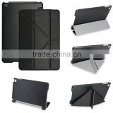 In store transform magnet stand lightweight black leather cover for iPad Mini 4