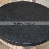 artificial stone round marble dining table with lazy susan,soid surface Restaurant dinning table