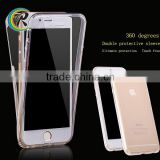 Clear transparent full body tpu mobile phone case for iPhone 6 colorful bumper full cover case