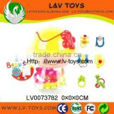 Interesting Plastic ABS baby rattle 6pcs in cute bottle for kids China manufacture with EN71 LV0073782