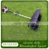 small fields use electric brushing machine for artificial turf