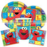 Themed Boys Birthday Party Supplies & Decorations Sesame Street Elmo Party Supplies Favors Plates Napkins Cups Set