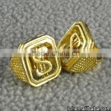 2016 new design boys finger rings, light weight imitation gold ring designs for boys
