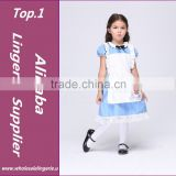 Girls Halloween Costumes Alice in Wonderland Dress Cosplay Stage Wear Clothing Sets Kids Party Fancy Ball Clothes