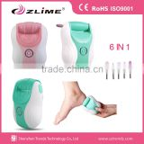 6 in 1 electric foot callus remover / Electric Foot Scrubber /Callus remover