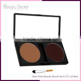 2 colors Eye brow Pencil eyebrow powder with brush