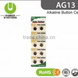 1.5V AG13 button cell battery lr44