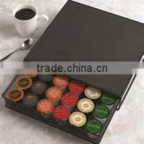 New Hot Metal Mesh 36K- Cup Capacity Coffee Cup Pod Drawer Holder Tea Cup Capsule Metal Holder