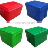 OEM high quality rotational molding plastic fish storage containers /rotomolded cooler box/ insualted food container