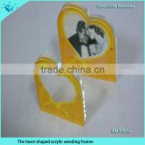 Fashion heart shaped acrylic weeding frames for weeding and holiday