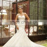 sexy white tulle mermaid strapless wedding dress imported from china