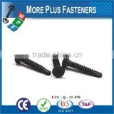 Made in Taiwan Black Phosphate Flat Head Stainless Steel Yellow Zinc Coated Self Drilling Drywall Screw