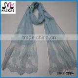Spring summer hot fashion soft blue scarf women