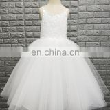 Lovely Straps Sleeveless Lace Appliques Ivory Flower Girl Dress