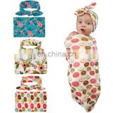 Unisex Newborn Baby Organic Baby Swaddle Blanket Receiving Blanket Set With Bow Headband