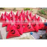 triangular water event use inflatable airtight buoy