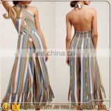 Multi Colors Stripe Cheap Jumpsuit For Woman Ladies One Piece Jumpsuits Hot Girl Club Dance Wear