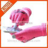 wholesale acrylic knit promotion texting gloves