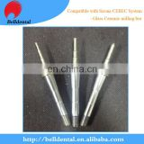 Dental Diamond coating glass ceramic milling bur for Sirona cerec system