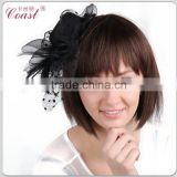 black decorative mini top party hats for girls