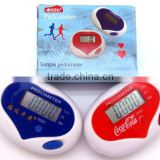 Digital Electronic pedometer,pedometer,heart shaped pedometer.1215