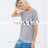 Women 2016 casual t shirt arrival 100%cotton fashion stripe short sleeve women's clothing TS030