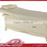 Beiqi High Quality Wooden Massage Bed Stationary Massage Table with Cabinet Beauty Salon Furniture