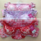1.89USD High Quality Yough Girls Sexy Fashional Bra Set New Design,5Colors/ 32-36A Cup( gdwx191 )