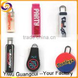 Soft pvc plastic custom logo design zipper pull for luggage                                                                         Quality Choice