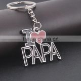 Christmas gift Valentine gift Father's Day Gifts I Love Papa Men's Key Chains