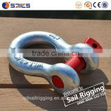 US Type Drop Forged Hot Dip Galvanized Screw Pin Lifting Bow Shackle                                                                                                         Supplier's Choice