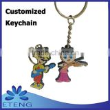 High-quality Economical fashion custom design rubber keyring