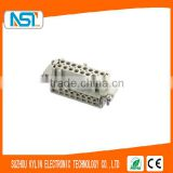 16 female core / socket Rectangle heavy-duty industrial connector with DINE/EN61984 Standard