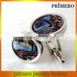 PRIMERO 2015 Fashion jewelry abalone shell cufflinks 925 sterling silver cufflink ball cufflins crystal cufflink French cufflink