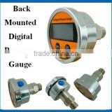 0-100Mpa back mounted water pressure gauge digital LCD display with battery supply